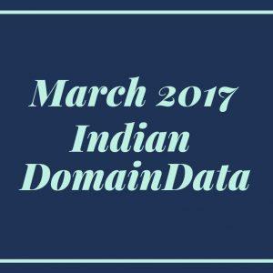 March 2017 Indian Domaindata