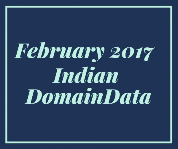 February 2017 indian Domaindata