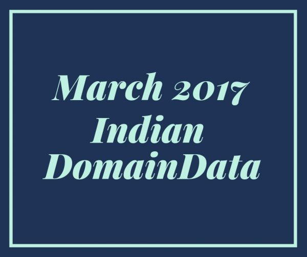 March 2017 Indian Domaindata