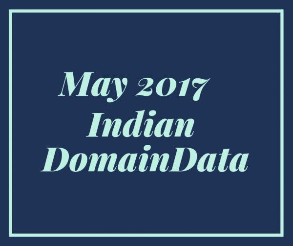 May 2017 Indian Domaindata