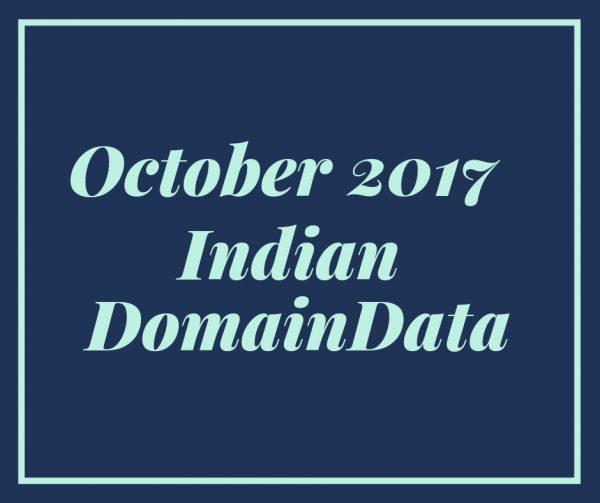 October 2017 Indian Domaindata